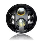 "GENSSI 7"" ROUND PROJECTOR DOT LED HEADLIGHT LOW/HI"