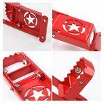 Door Hinges Step Metal Folding Foot Peg for Jeep Wrangler JK JL (2007-2018) Red
