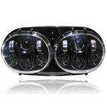 GENSSI DUAL LED HEADLIGHT FOR HARLEY ROAD GLIDE BL