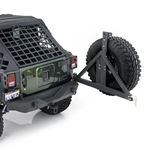 XRC Armor Rear Bumper with Hitch and Tire Carrier for Wrangler JK 2007-2018