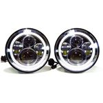 "GENSSI 7"" ROUND HALO PROJECTOR HEADLAMP SET H6024"