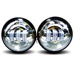 "GENSSI 4-1/2"" CHROME LED AUXILIARY SPOT FOG PASSIN"