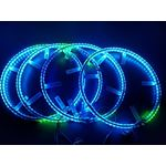 LED Wheel Light Kit Chase Moving Signal and Brake Function Wireless