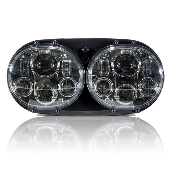 GENSSI DUAL LED HEADLIGHT FOR HARLEY ROAD GLIDE CH