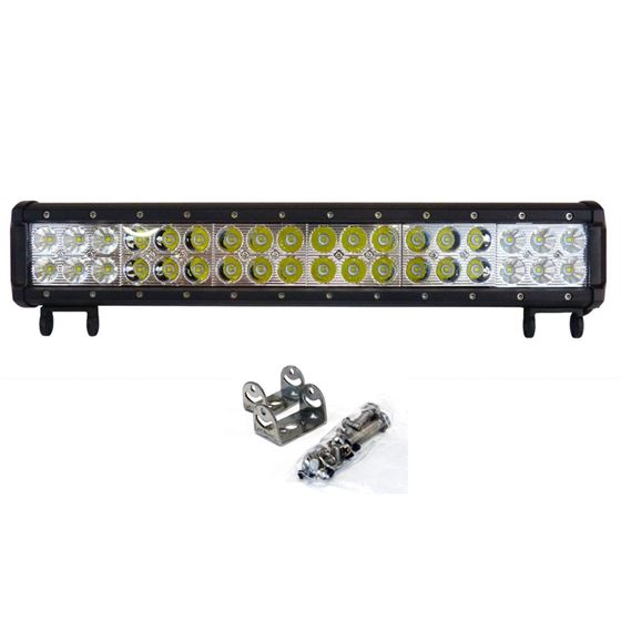 LED Light Bar 108W 16.75 Inches Bottom Bracket