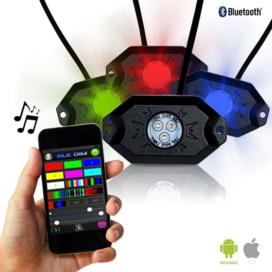 LED Under Body Rock Lights Color with Bluetooth Co