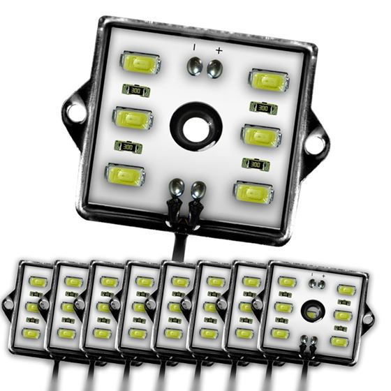 8 Module 48 LED White Exterior Truck Bed Rock