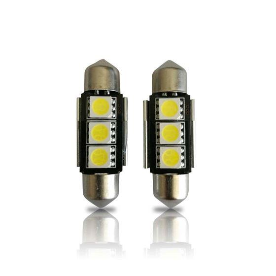 36mm 3423 3425 6411 6418 6423 6461 DE3425 CANBUS Festoon LED Bulbs (2 Pack)