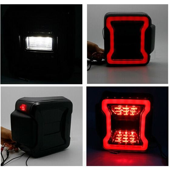Smoked LED Tail Lights for Jeep Wrangler JL 2018+