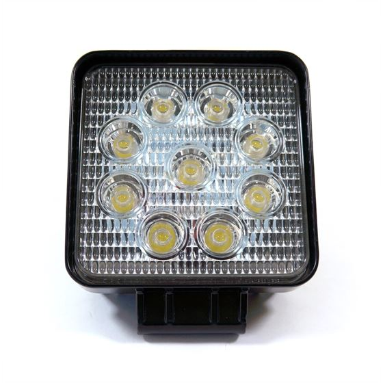 27W Flood Square LED Work Lights Black Housing