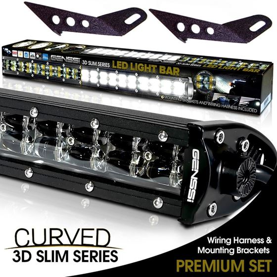 3D Slim Low Profile LED Light Bar 3